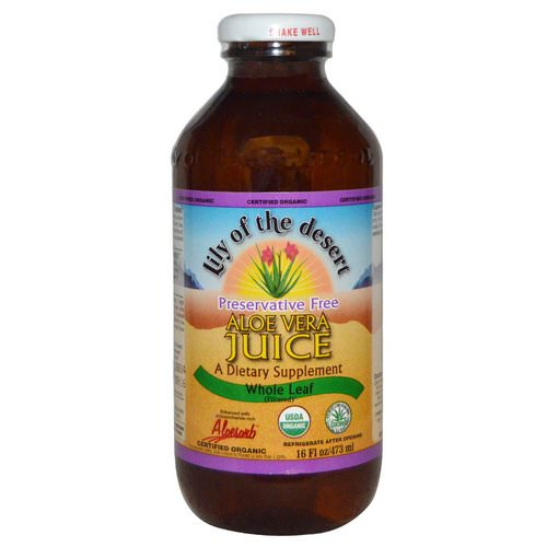 Lily of the Desert, Organic, Aloe Vera Juice, Whole Leaf, 16 fl oz (473 ml) Review