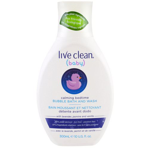 Live Clean, Baby, Calming Bedtime, Bubble Bath & Wash, 10 fl oz (300 ml) Review