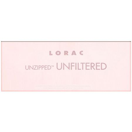 化妝禮品, 眼影: Lorac, Unzipped Unfiltered Eye Shadow Palette with Dual-Ended Brush, 0.37 oz (10.5 g)