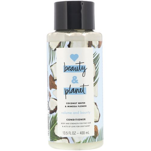 Love Beauty and Planet, Volume and Bounty Conditioner, Coconut Water & Mimosa Flower, 13.5 fl oz (400 ml) Review