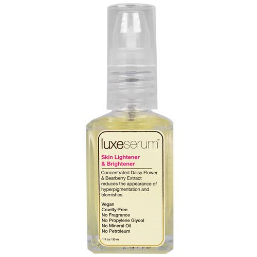 LuxeBeauty, Luxe Serum, Skin Lightener & Brightener, 1 fl oz (30 ml) Review