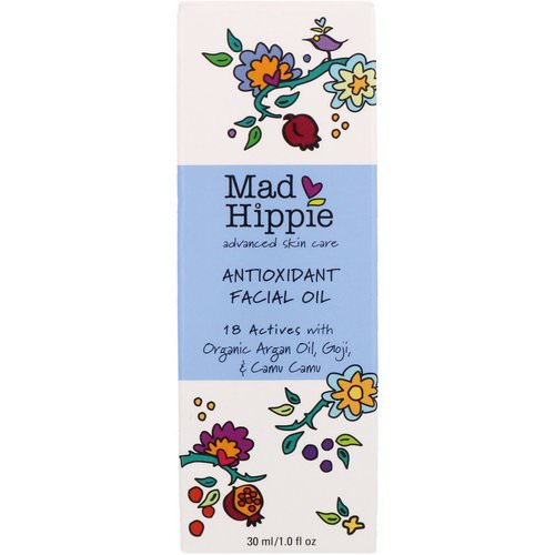 Mad Hippie Skin Care Products, Antioxidant Facial Oil, 1.0 fl oz (30 ml) Review