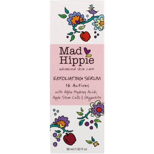 Mad Hippie Skin Care Products, Exfoliating Serum, 16 Actives, 1.02 fl oz (30 ml) Review