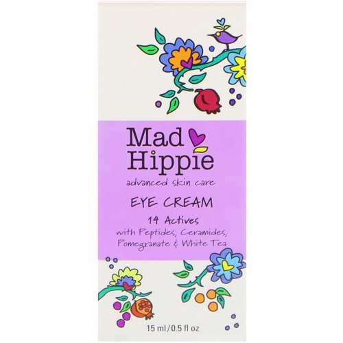 Mad Hippie Skin Care Products, Eye Cream, 14 Actives, 0.5 fl oz (15 ml) Review