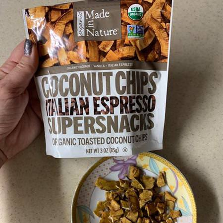 Made in Nature Dried Coconut Chips - 芯片, 零食, 椰子乾, 超級食品