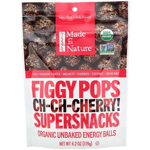 Made in Nature, Organic Figgy Pops, Ch-Ch-Chery Supersnacks, 4.2 oz (119 g) Review