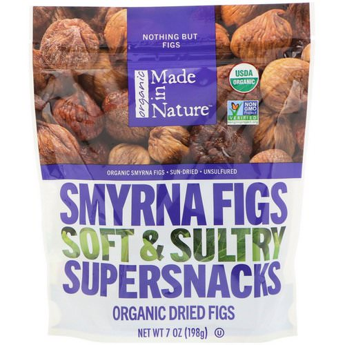 Made in Nature, Organic Dried Smyrna Figs, Soft & Sultry Supersnacks, 7 oz (198 g) Review
