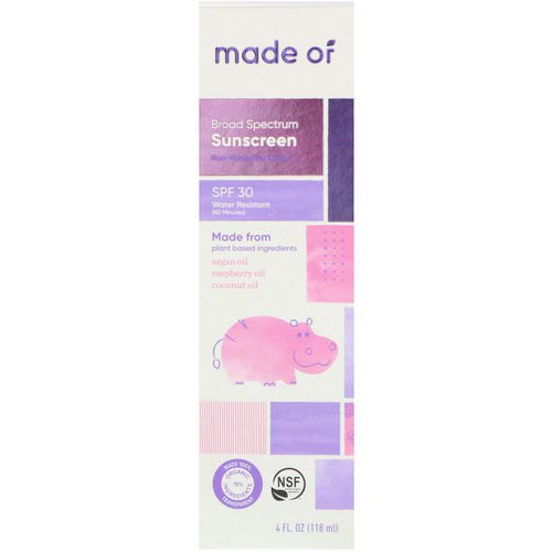MADE OF, Broad Spectrum Sunscreen, SPF 30, 4 fl oz (118 ml) Review