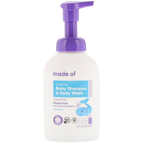 MADE OF, Foaming Baby Shampoo & Body Wash, Fragrance Free, 10 fl oz (295.74 ml) Review