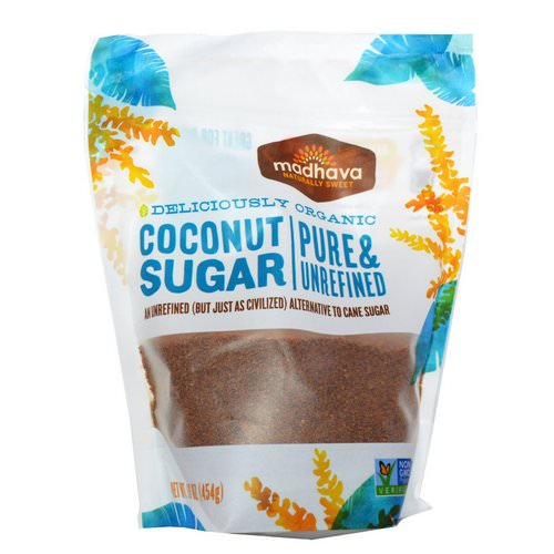Madhava Natural Sweeteners, Deliciously Organic Coconut Sugar, 1 lb (454 g) Review