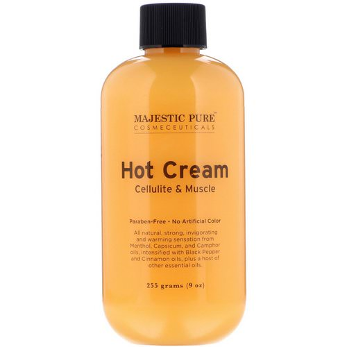 Majestic Pure, Hot Cream, Cellulite & Muscle, 9 oz (255 g) Review