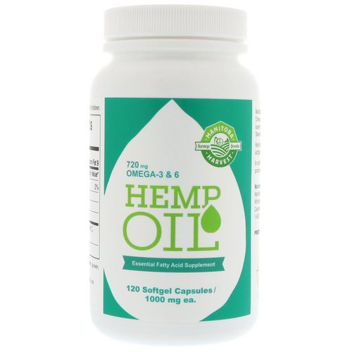 Manitoba Harvest, Hemp Oil, 1,000 mg, 120 Softgel Capsules Review