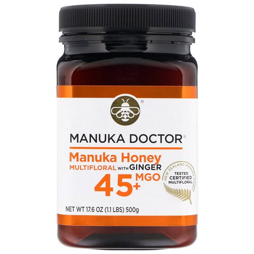 Manuka Doctor, Manuka Honey Multifloral with Ginger, MGO 45+, 1.1 lbs (500 g) Review