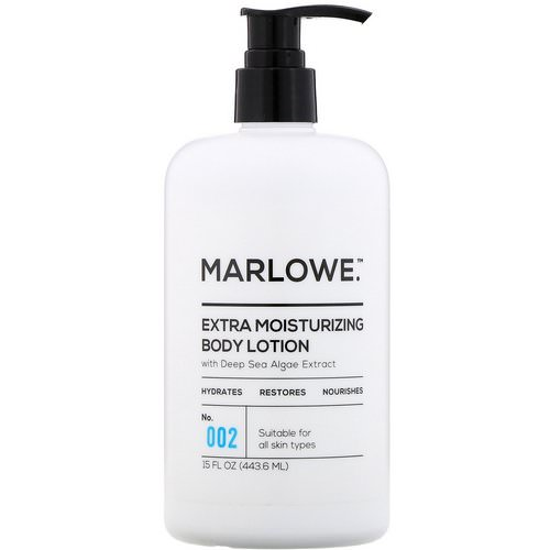 Marlowe, Extra Moisturizing Body Lotion, No. 002, 15 fl oz (443.6 ml) Review