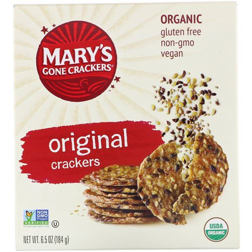 Mary's Gone Crackers, Original Crackers, 6.5 oz (184 g) Review
