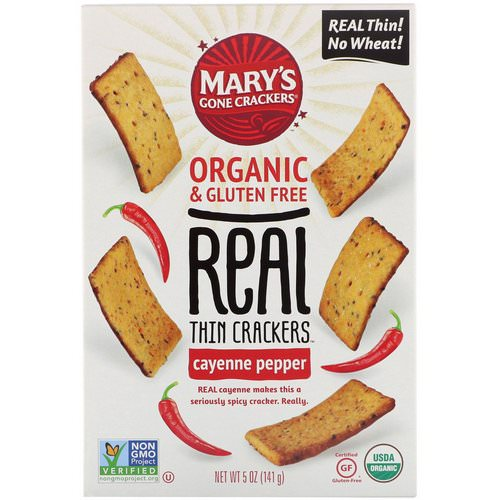 Mary's Gone Crackers, Real Thin Crackers, Cayenne Pepper, 5 oz (141 g) Review