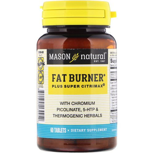 Mason Natural, Fat Burner Plus Super Citrimax, 60 Tablets Review