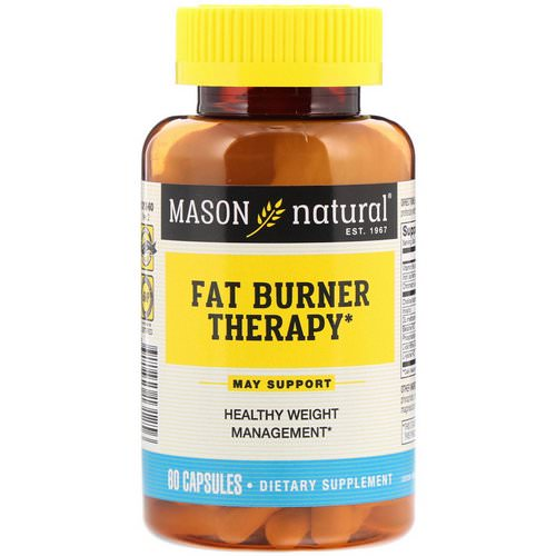Mason Natural, Fat Burner Therapy, 60 Capsules Review