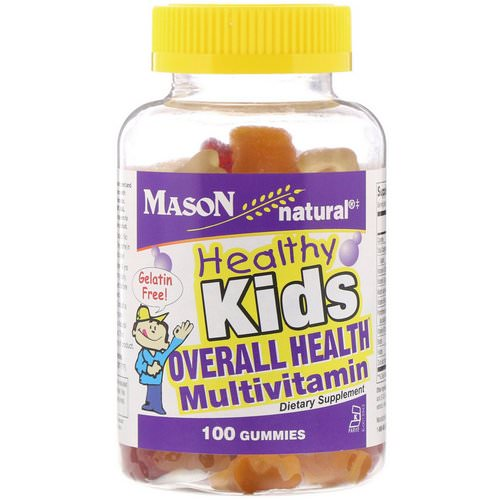 Mason Natural, Healthy Kids, Overall Health Multivitamin, 100 Gummies Review