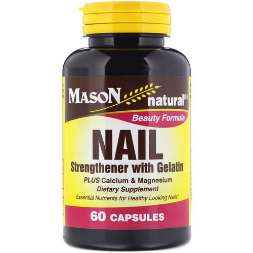 Mason Natural, Nail Strengthener with Gelatin, 60 Capsules Review