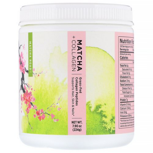 Matcha Road, Matcha + Collagen, Grass-Fed Collagen Peptides, 7.9 oz (224 g) Review