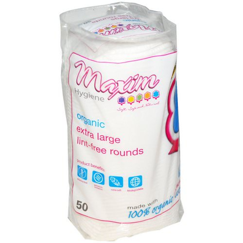 Maxim Hygiene Products, Organic Extra Large Lint-Free Rounds, 50 Count Review