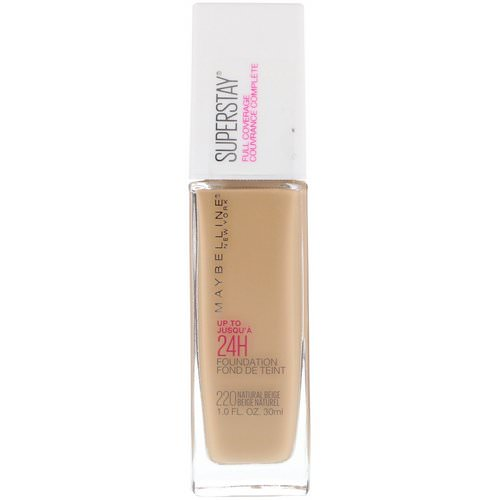 Maybelline, Super Stay, Full Coverage Foundation, 220 Natural Beige, 1 fl oz (30 ml) Review