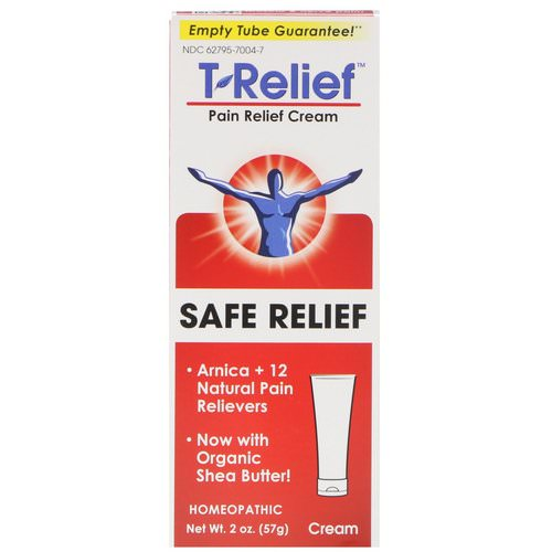 MediNatura, T-Relief, Safe Relief, Pain Relief Cream, 2 oz (57 g) Review