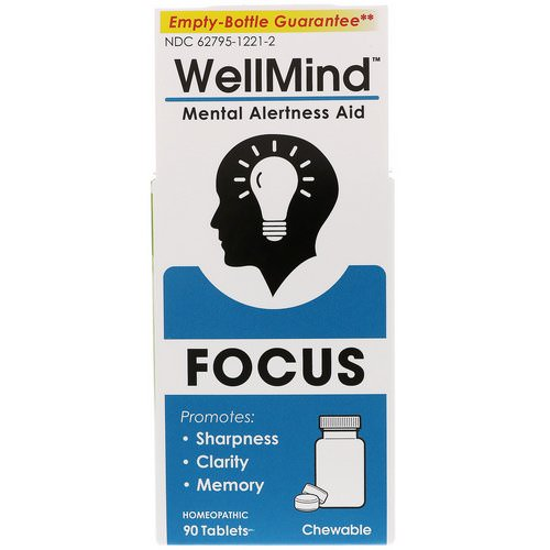 MediNatura, WellMind Focus, Mental Alertness Aid, 90 Tablets Review