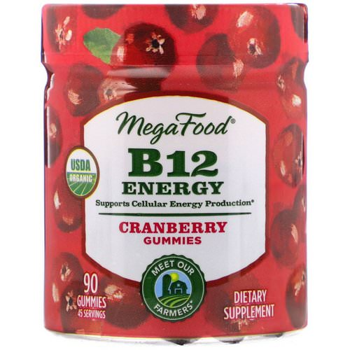 MegaFood, B12 Energy, Cranberry, 90 Gummies Review