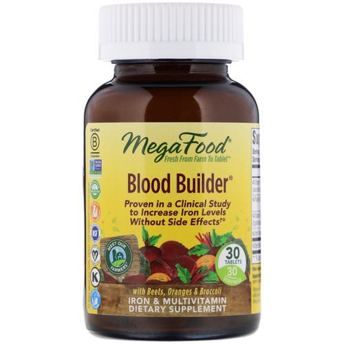 MegaFood, Blood Builder, 30 Tablets Review