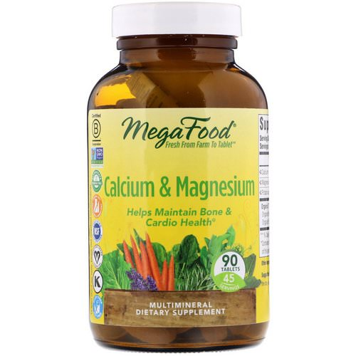 MegaFood, Calcium & Magnesium, 90 Tablets Review