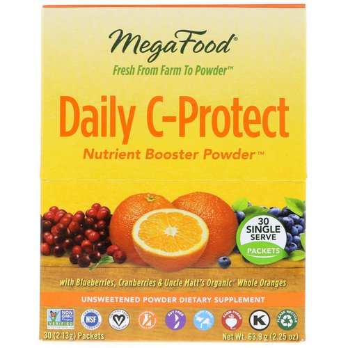 MegaFood, Daily C-Protect, Nutrient Booster Powder, 30 Packets, (2.13 g) Each Review