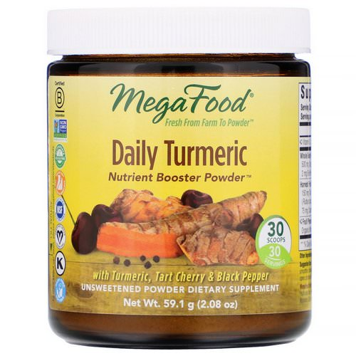 MegaFood, Daily Turmeric, Nutrient Booster Powder, Unsweetened, 2.08 oz (59.1 g) Review