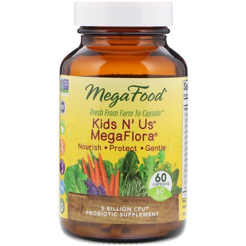 MegaFood, Kids N' Us MegaFlora, 60 Capsules Review