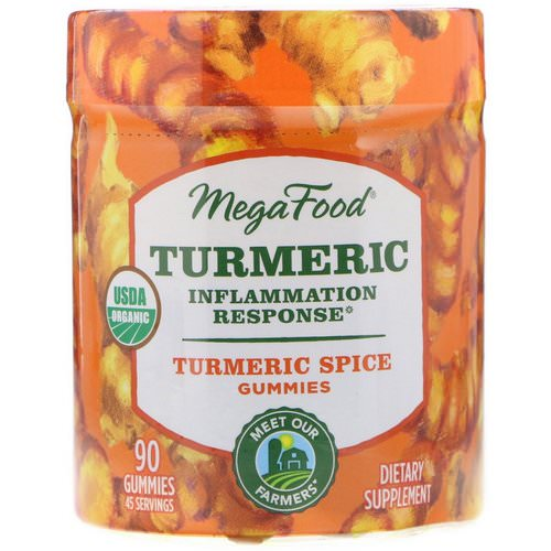 MegaFood, Turmeric, Inflammation Response, Turmeric Spice, 90 Gummies Review