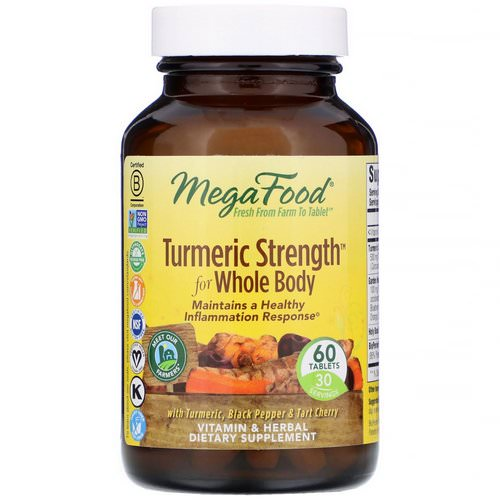 MegaFood, Turmeric Strength for Whole Body, 60 Tablets Review