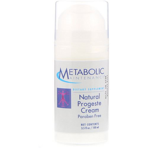 Metabolic Maintenance, Natural Progeste Cream, 3.5 fl oz (100 ml) Review