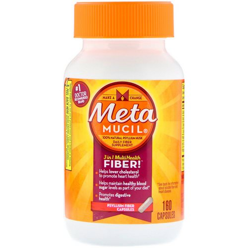 Metamucil, 3 in 1 MultiHealth Fiber, Psyllium Fiber, 160 Capsules Review