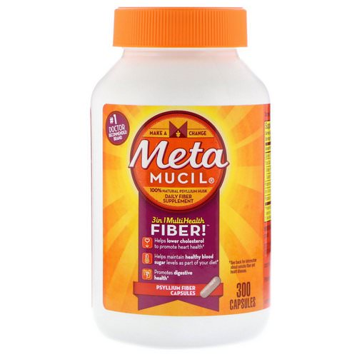 Metamucil, 3 in 1 MultiHealth Fiber, Psyllium Fiber, 300 Capsules Review