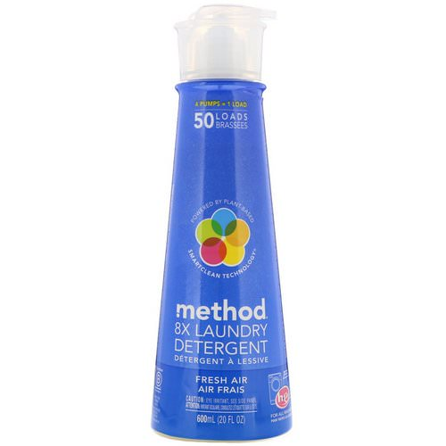 Method, 8X Laundry Detergent, Fresh Air, 20 fl oz (600 ml) Review