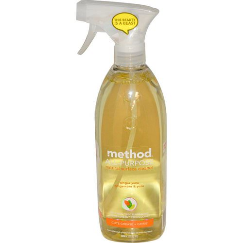 Method, All-Purpose Natural Surface Cleaner, Ginger Yuzu, 28 fl oz (828 ml) Review