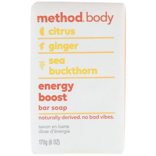 Method, Body, Bar Soap, Energy Boost, 6 oz (170 g) Review