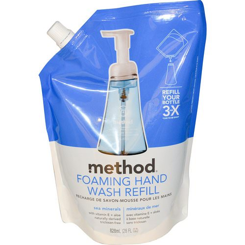 Method, Foaming Hand Wash Refill, Sea Minerals, 28 fl oz (828 ml) Review