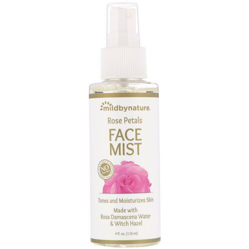 Mild By Nature, Witch Hazel, Rose Petal Face Mist, Alcohol-Free, 4 fl oz (118 ml) Review