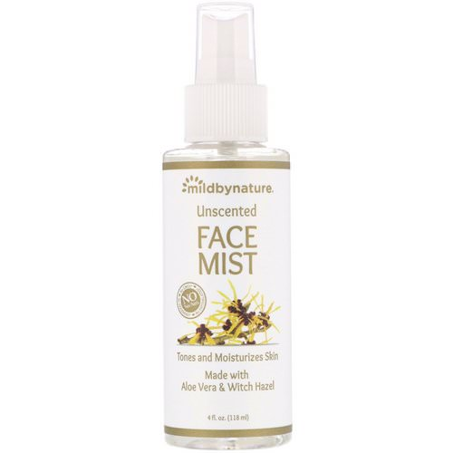 Mild By Nature, Witch Hazel, Unscented, Face Mist, Alcohol-Free, 4 fl oz (118 ml) Review