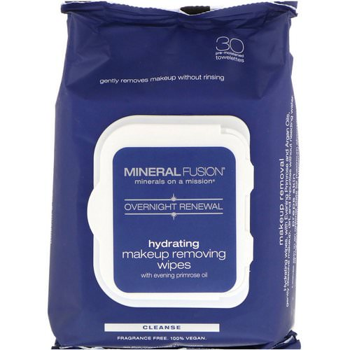 Mineral Fusion, Overnight Renewal, Hydrating Makeup Removing Wipes, 30 Towelettes Review