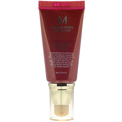 Missha, Perfect Cover BB Cream, SPF 42 PA+++, No. 21 Light Beige, 50 ml Review