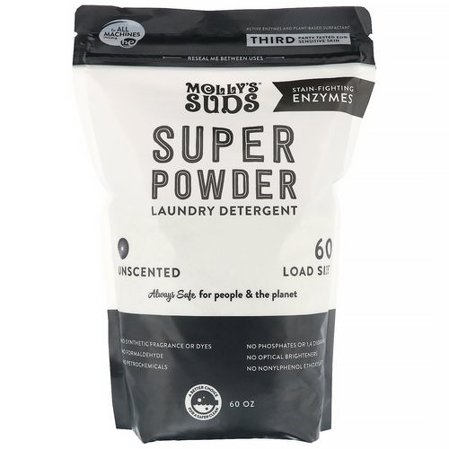 Molly's Suds, Super Powder Laundry Detergent, Unscented, 60 Loads, 60 oz Review