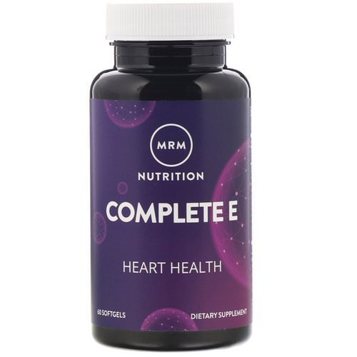 MRM, Nutrition, Complete E, 60 Softgels Review